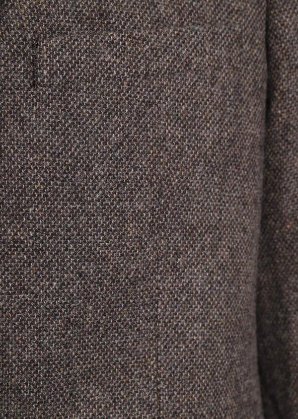 Veste casual Regular en laine mélangée unie marron - Father and Sons 35531