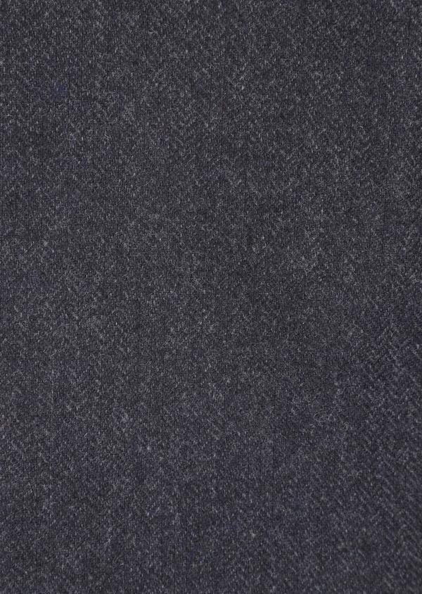 Veste casual Slim en laine mélangée unie gris anthracite - Father and Sons 36238