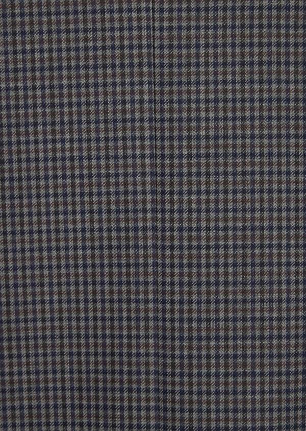 Veste casual Slim en laine mélangée grise Prince de Galles - Father and Sons 36252