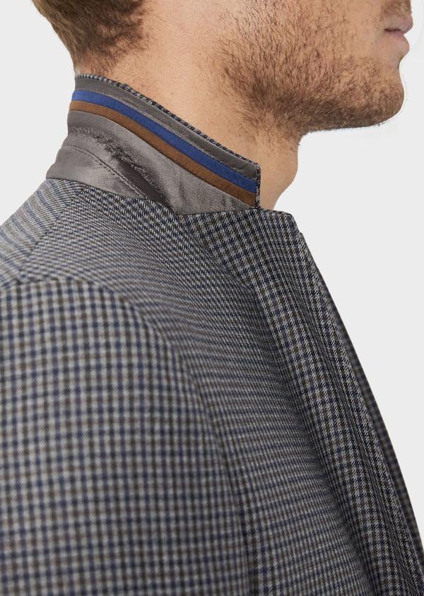 Veste casual Slim en laine mélangée grise Prince de Galles - Father and Sons 36255