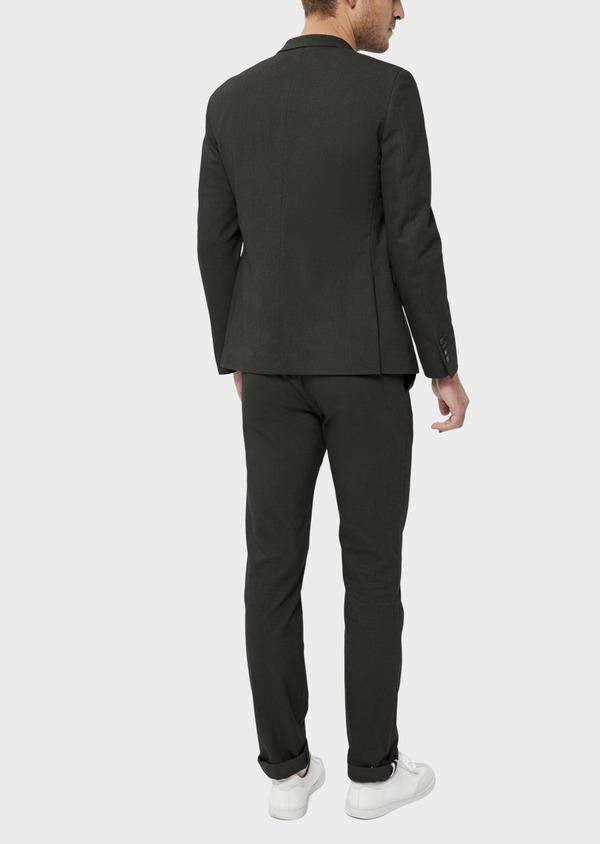 Veste coordonnable Slim en coton mélangé vert kaki à pois - Father and Sons 36223