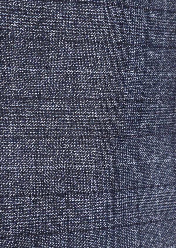 Veste coordonnable Slim en laine mélangée bleue Prince de Galles - Father and Sons 36425