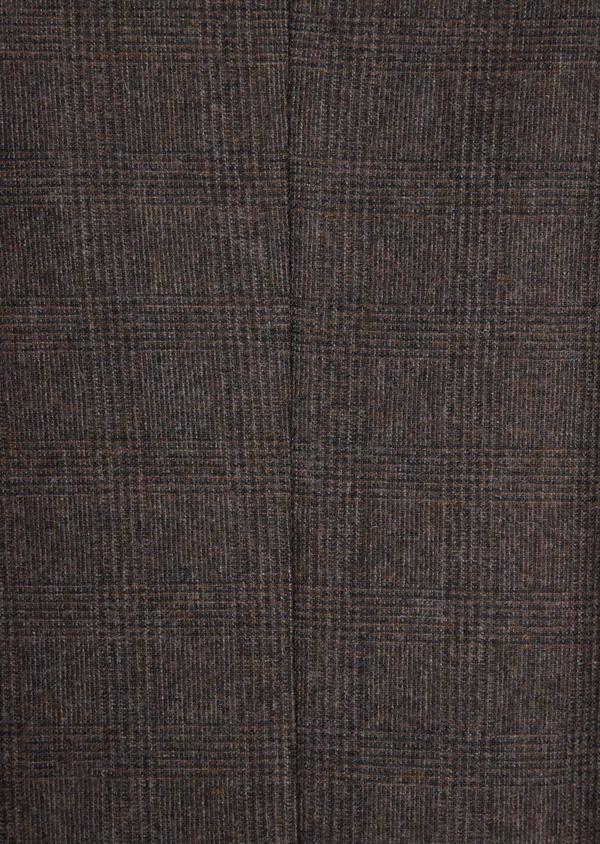 Veste coordonnable Slim en laine mélangée marron Prince de Galles - Father and Sons 37397