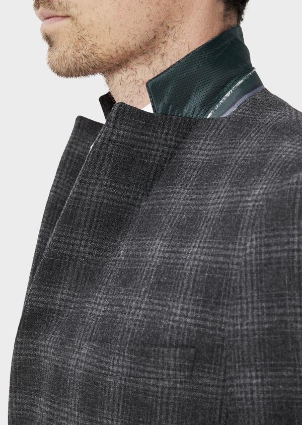 Veste coordonnable Slim en laine mélangée grise Prince de Galles - Father and Sons 35555