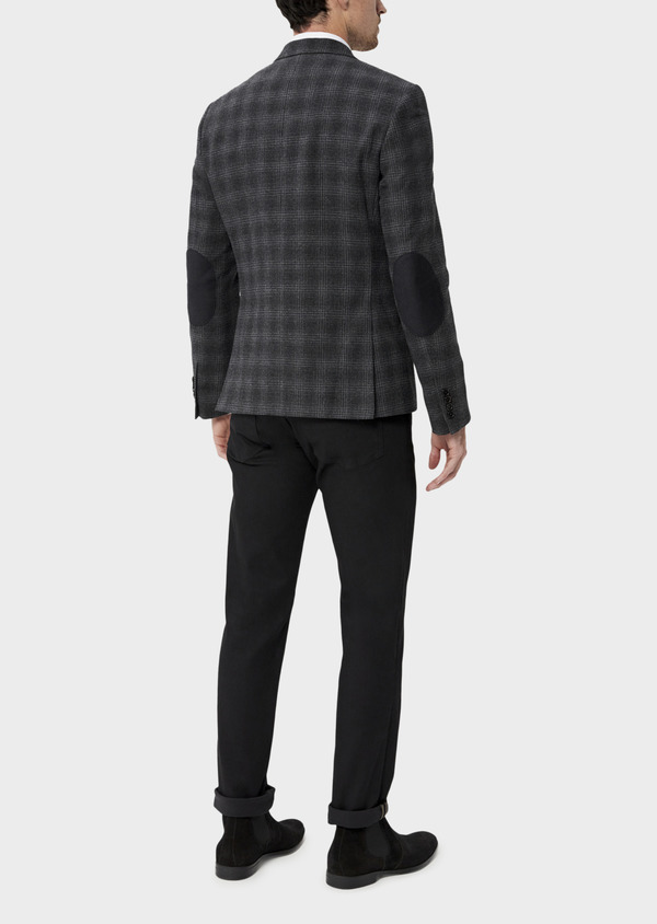 Veste coordonnable Slim en laine mélangée grise Prince de Galles - Father and Sons 35554