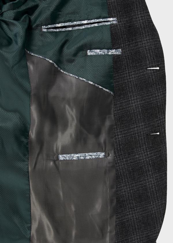 Veste coordonnable Slim en laine mélangée grise Prince de Galles - Father and Sons 35557