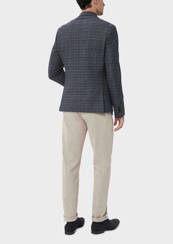 Veste coordonnable Slim bleu indigo Prince de Galles - Father and Sons 35515