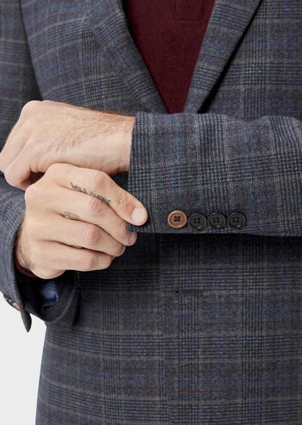 Veste coordonnable Slim bleu indigo Prince de Galles - Father and Sons 35517
