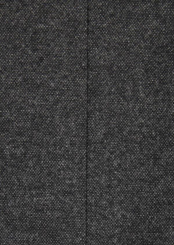 Veste casual Slim en flanelle gris anthracite avec parementure bleue amovible - Father and Sons 36853