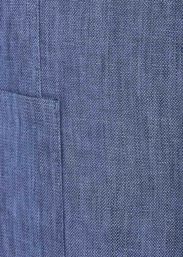 Veste coordonnable Slim en lin uni bleu indigo - Father and Sons 40212