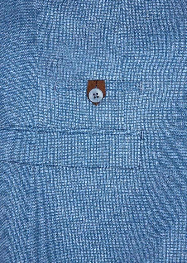 Veste coordonnable Slim en lin et coton uni bleu - Father and Sons 39960
