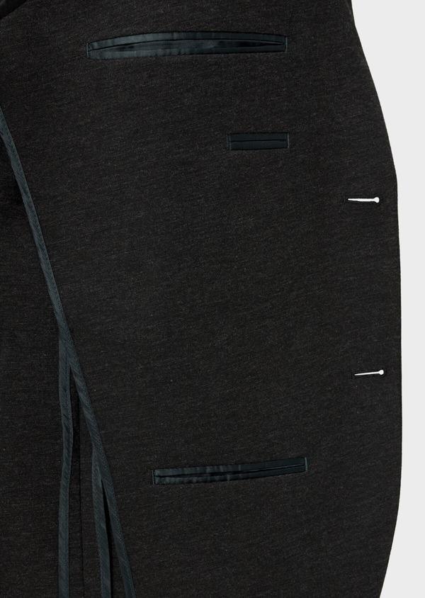 Veste coordonnable Slim en jersey uni gris - Father and Sons 35550