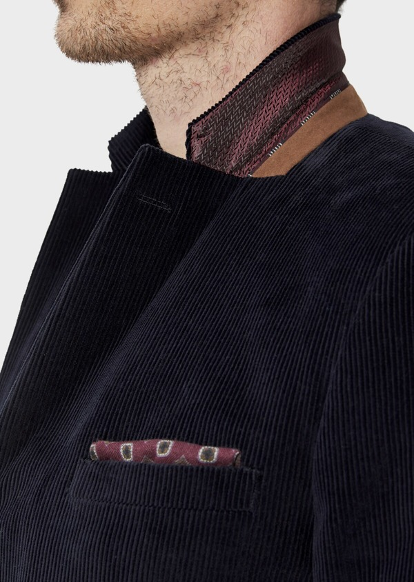 Veste coordonnable Slim en velours côtelé bleu indigo - Father and Sons 35523