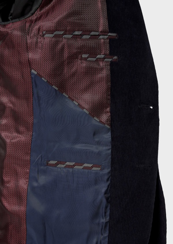 Veste coordonnable Slim en velours côtelé bleu indigo - Father and Sons 35525