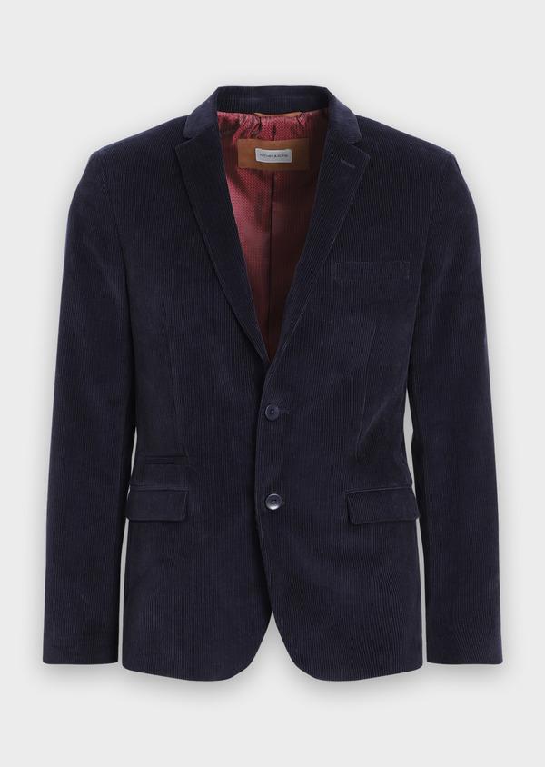 Veste coordonnable Slim en velours côtelé bleu indigo - Father and Sons 35519