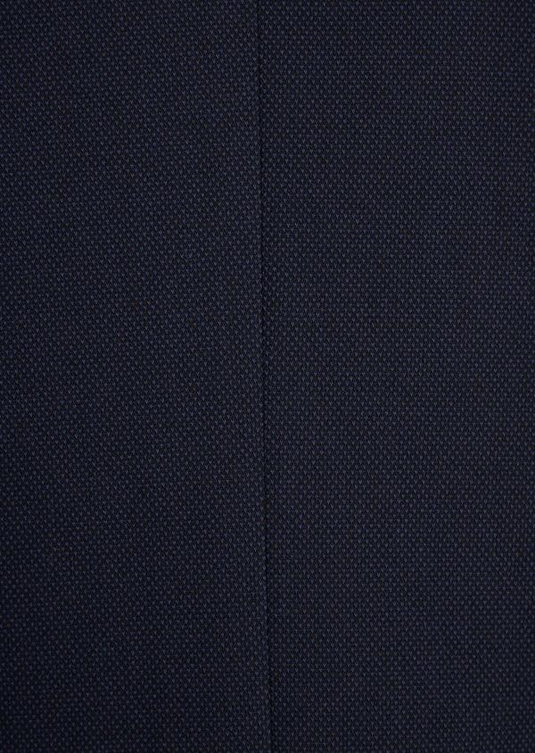 Veste coordonnable Slim en coton mélangé à pois bleu marine - Father and Sons 36839