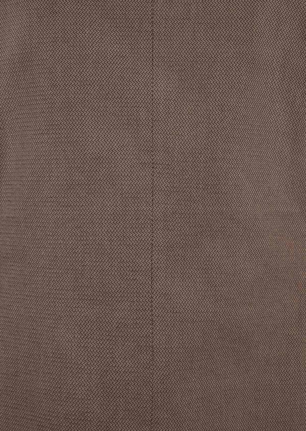 Veste coordonnable Slim en coton uni marron - Father and Sons 39953