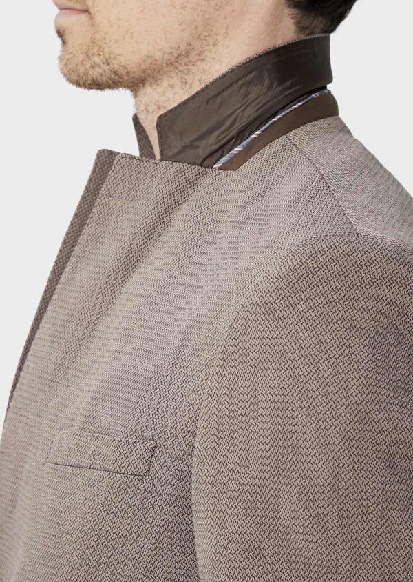 Veste coordonnable Slim en coton uni marron - Father and Sons 39956
