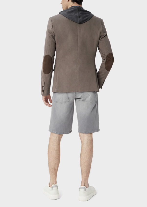 Veste coordonnable Slim en coton uni marron - Father and Sons 39955