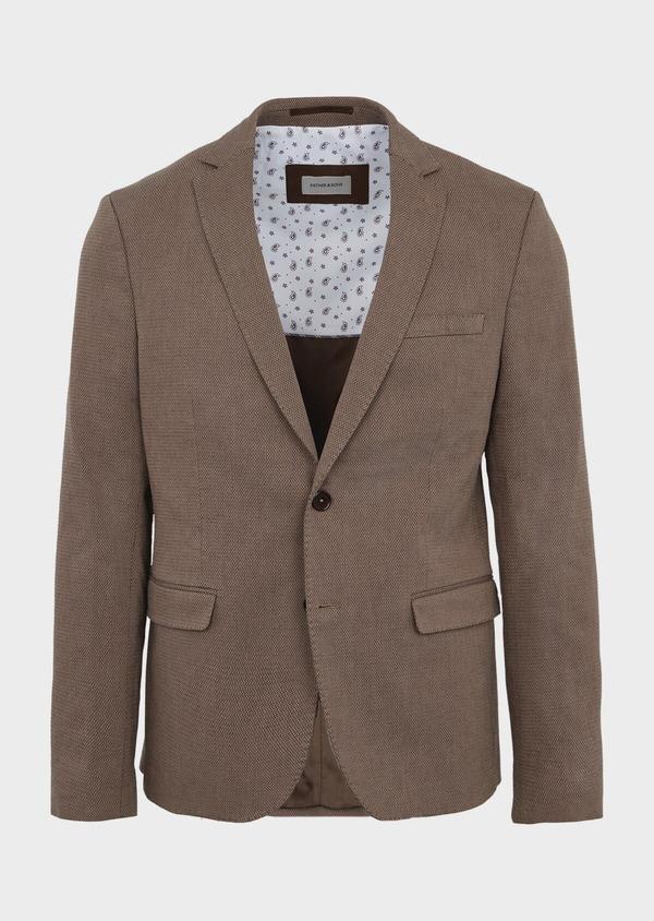 Veste coordonnable Slim en coton uni marron - Father and Sons 39952