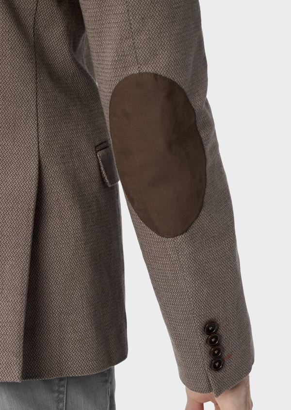 Veste coordonnable Slim en coton uni marron - Father and Sons 39957