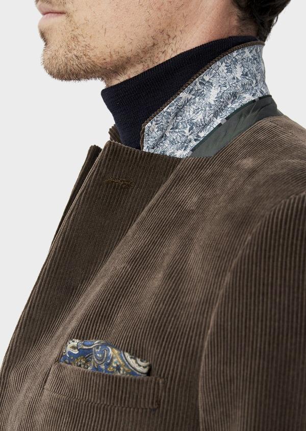 Veste coordonnable Slim en velours côtelé marron - Father and Sons 35541