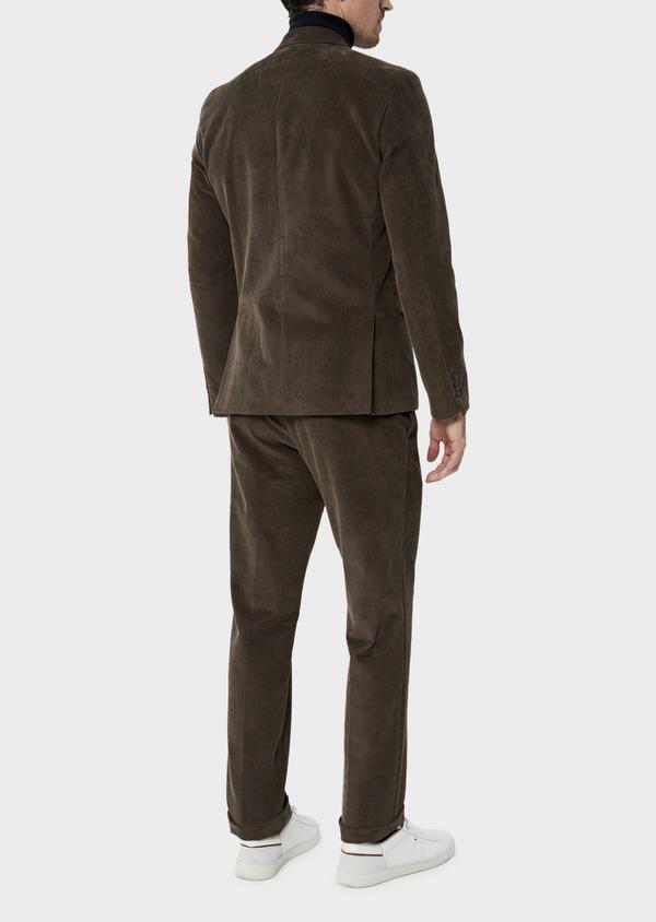 Veste coordonnable Slim en velours côtelé marron - Father and Sons 35540