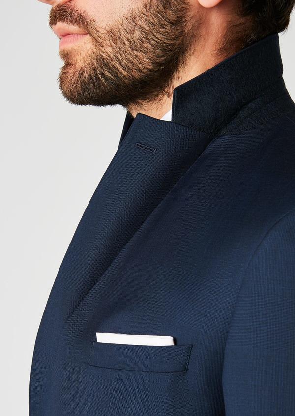 Veste de costume Regular en laine Vitale Barberis Canonico bleu marine Prince de Galles - Father and Sons 19993