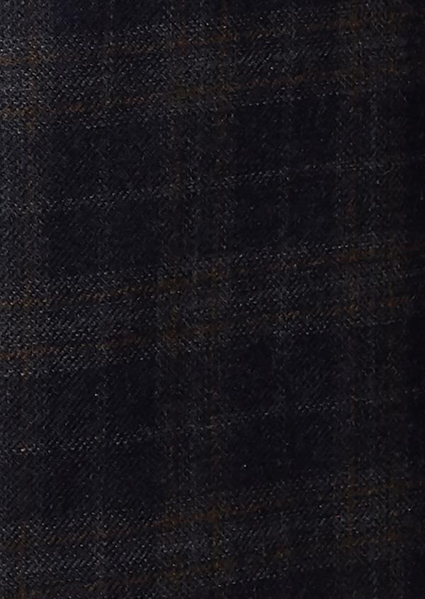 Veste casual Regular en laine bleu marine Prince de Galles - Father and Sons 27116