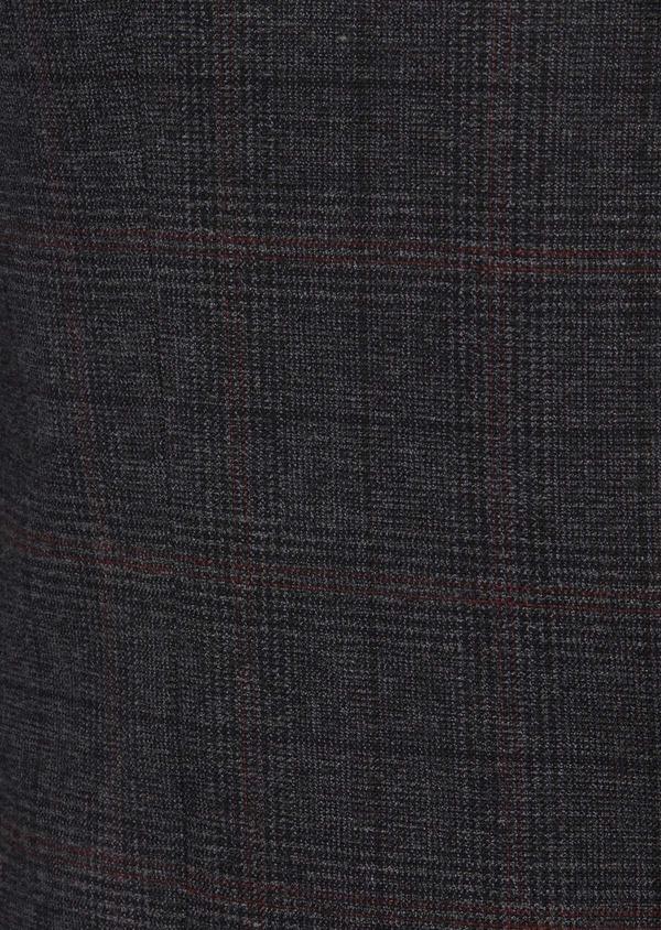 Veste casual regular en popeline de coton mélangé gris Prince de Galles - Father and Sons 41862