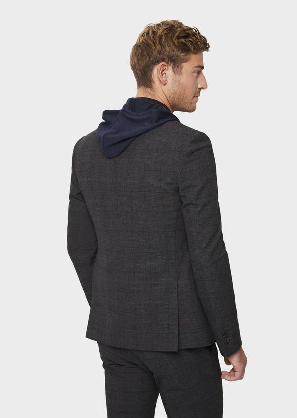 Veste casual regular en popeline de coton mélangé gris Prince de Galles - Father and Sons 41860