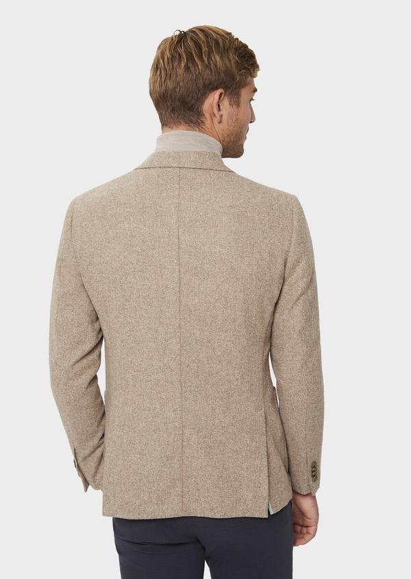 Veste casual Regular en laine mélangée unie beige - Father and Sons 41842