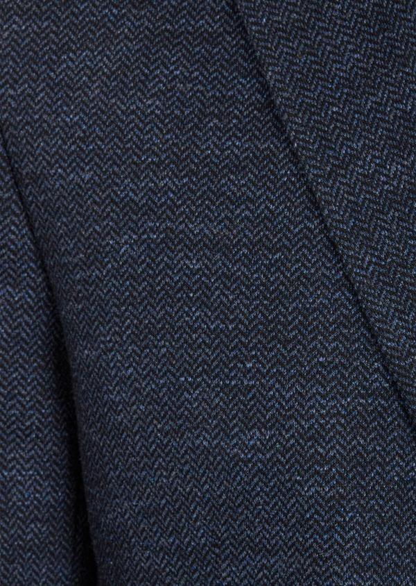 Veste casual Regular en coton mélangé uni bleu à parementure amovible - Father and Sons 41471