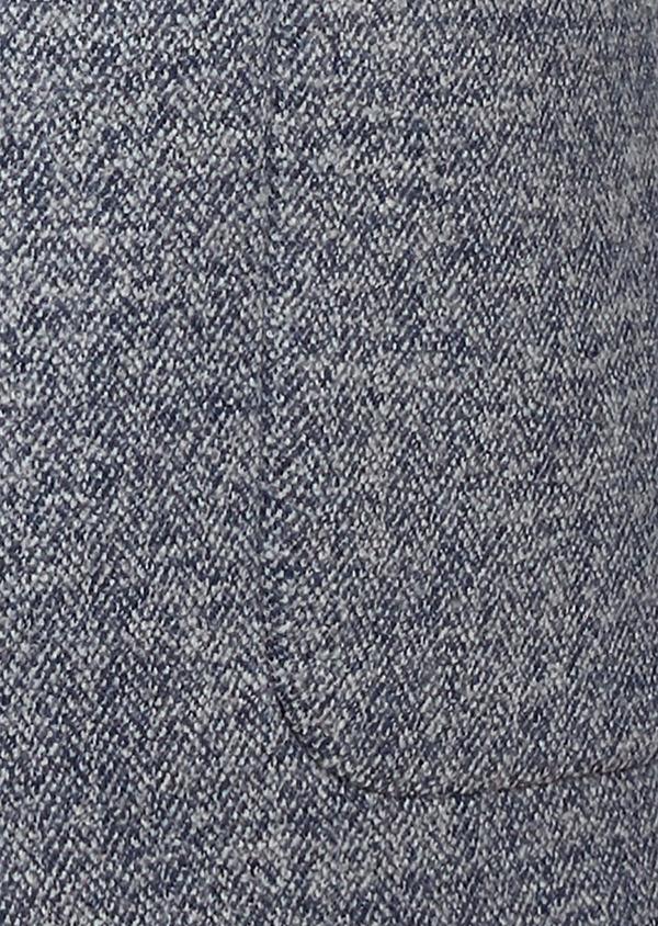 Veste casual Regular en coton façonné uni bleu - Father and Sons 27145