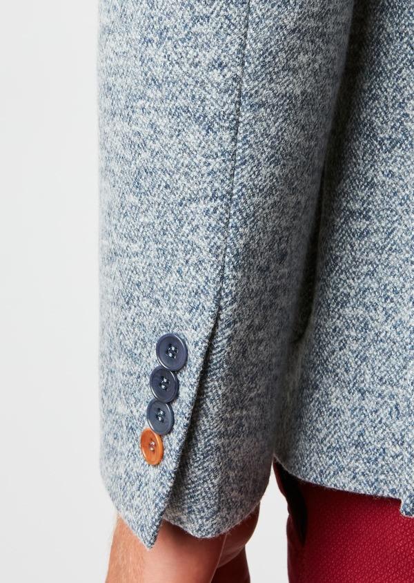 Veste casual Regular en coton façonné uni bleu - Father and Sons 27149