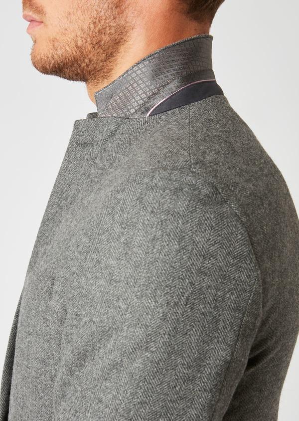 Veste casual Regular en laine uni gris - Father and Sons 27138