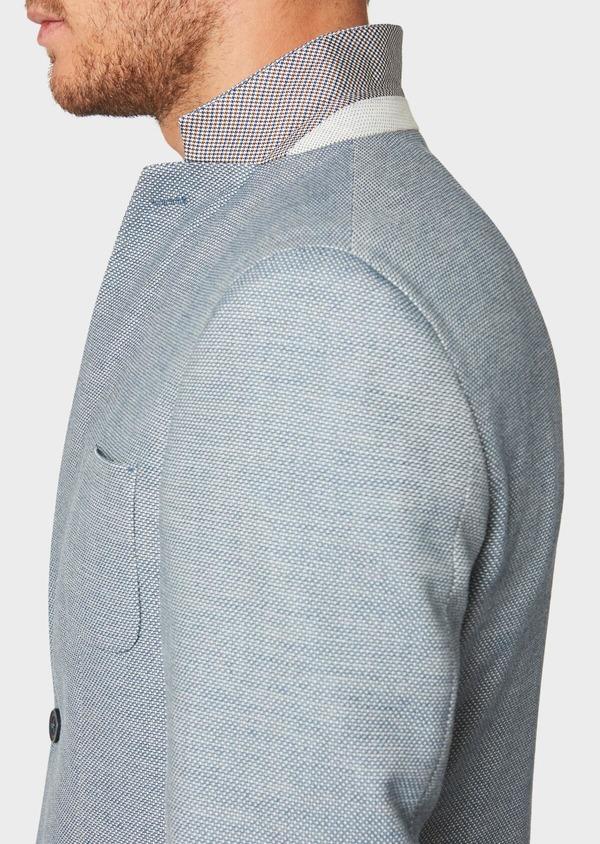 Veste casual Regular en coton mélangé bleu - Father and Sons 33583