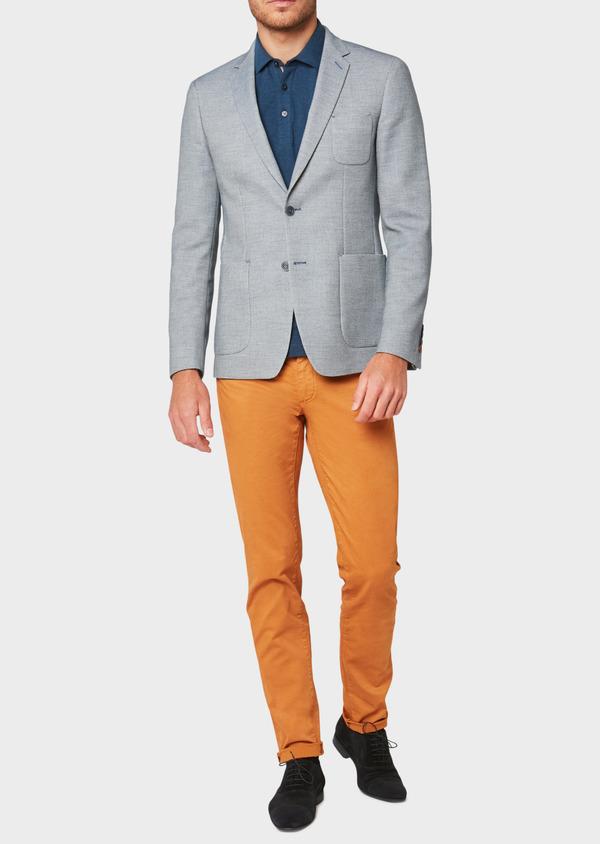 Veste casual Regular en coton mélangé bleu - Father and Sons 33581