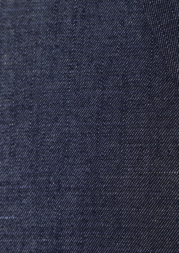 Veste coordonnable Regular en coton mélangé uni bleu turquin - Father and Sons 34087