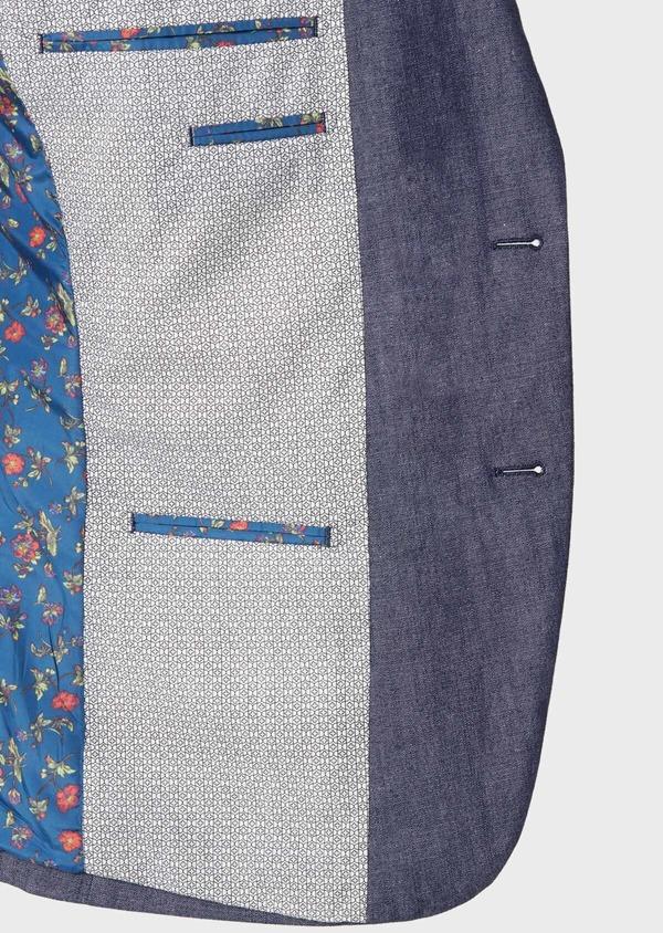 Veste coordonnable Regular en coton mélangé uni bleu turquin - Father and Sons 34092