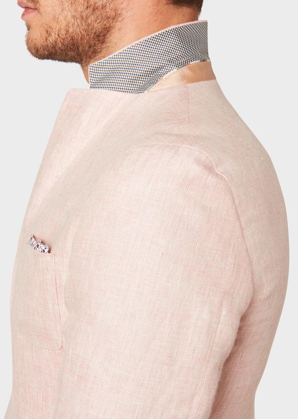 Veste coordonnable Regular en lin rose clair - Father and Sons 33601