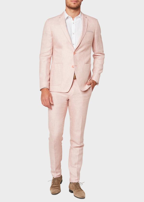 Veste coordonnable Regular en lin rose clair - Father and Sons 33599