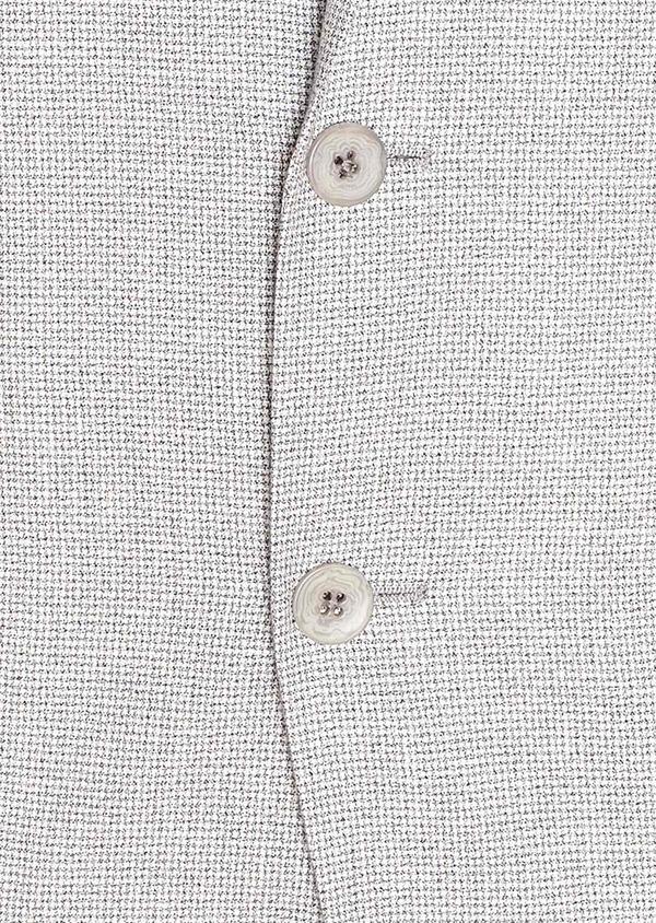 Veste casual Slim en coton et lin gris clair à carreaux - Father and Sons 33649