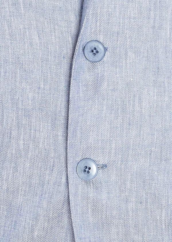 Veste coordonnable Slim en lin uni bleu turquin - Father and Sons 33664