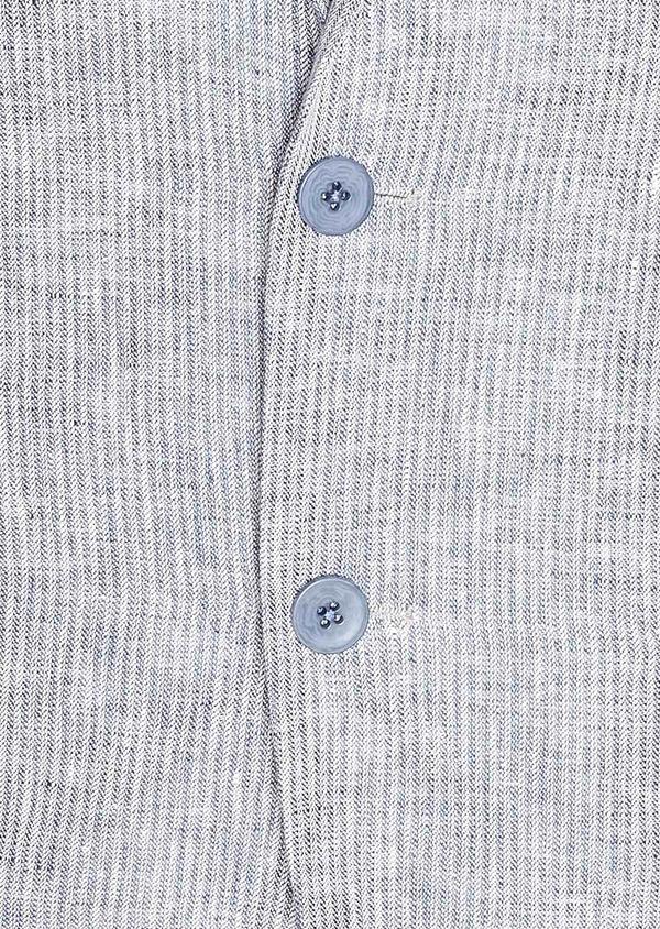 Veste coordonnable Slim en lin uni bleu turquin - Father and Sons 33671