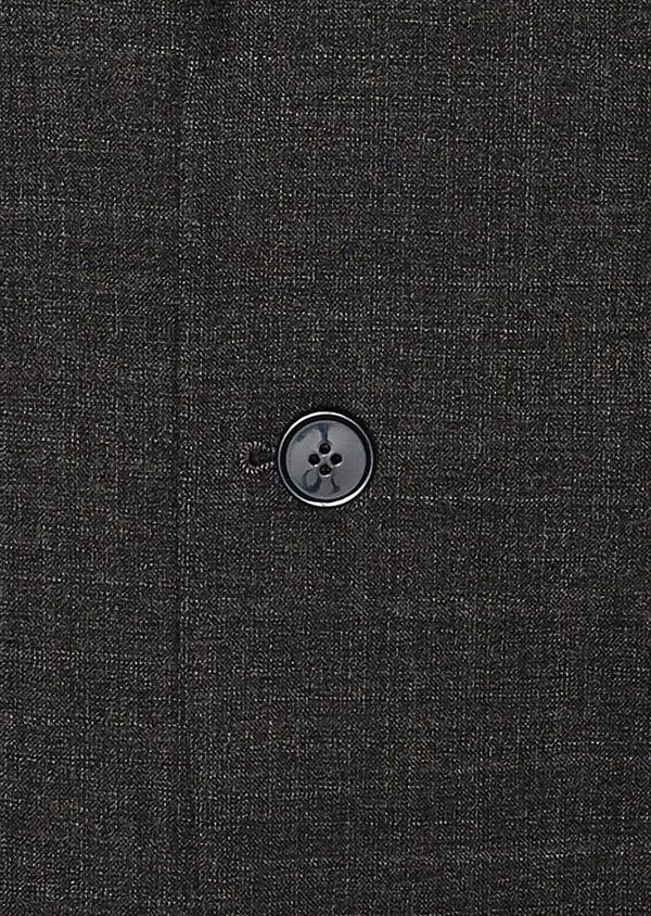 Veste de costume voyage Regular en laine unie grise - Father and Sons 31835