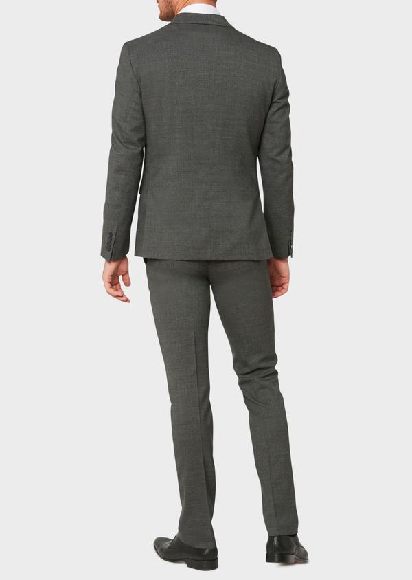 Veste de costume voyage Regular en laine unie grise - Father and Sons 31837