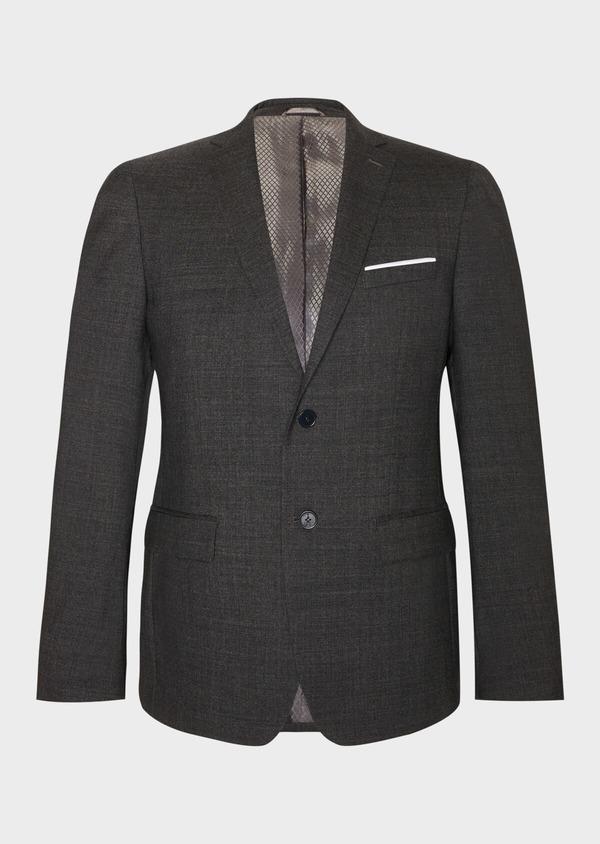 Veste de costume voyage Regular en laine unie grise - Father and Sons 31834