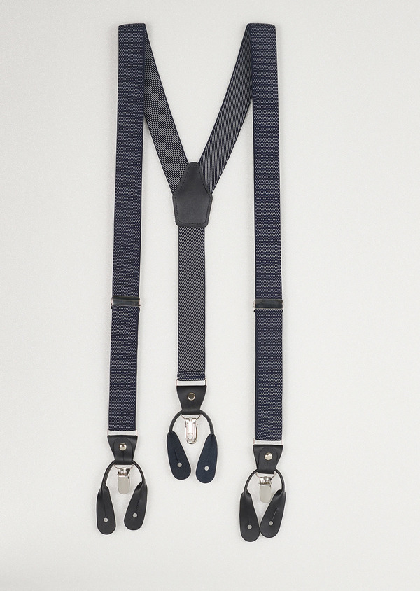 Bretelles fines bleues à pois blancs - Father and Sons 9041