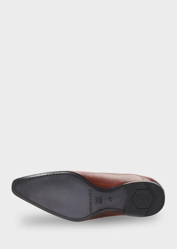 Richelieus en cuir lisse marron foncé - Father and Sons 8586